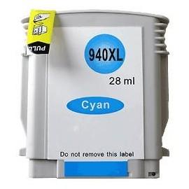 cartouche cyan pour imprimante HP Officejet Pro 8000 Printer équivalent C4907AE - N°940XL