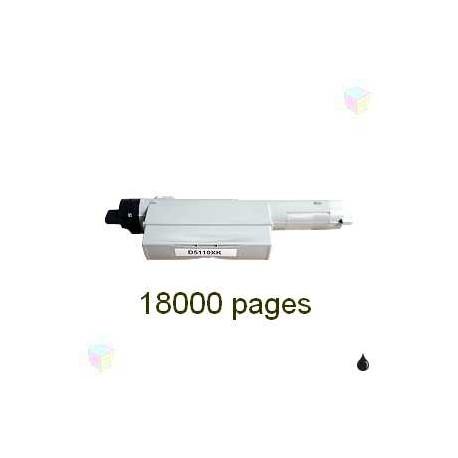 toner noir pour imprimante Dell Color Laser Printer 5110 équivalent 593-10121