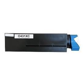 Toner noir compatible Oki 44574802