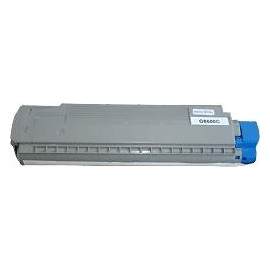 toner cyan pour imprimante Oki C8600 équivalent 43487711