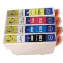 cartouche pack noir+couleur pour imprimante Epson Workforce Wf2010w équivalent C13T16364010