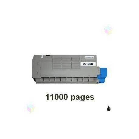 toner noir pour imprimante Oki C710 équivalent 44318608
