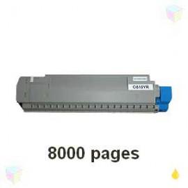 toner cyan pour imprimante Oki C810 équivalent 44059107