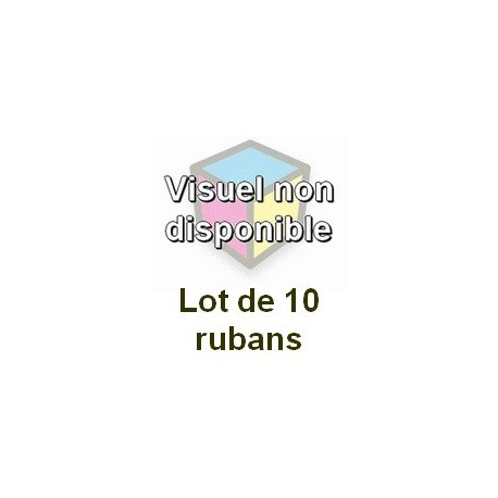 Ruban matriciel compatible epson lq-1000 (c13s015022) - Lot de 10