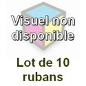 Ruban matriciel compatible epson erc 23 black - Lot de 10