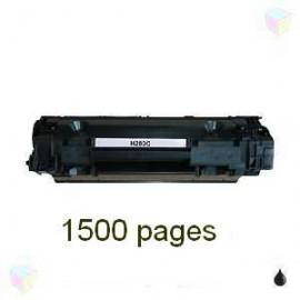 Toner noir compatible HP CF283A - Canon CRG737