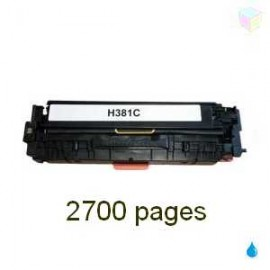 toner compatible CF381A - 312A cyan pour HP Color Laserjet Pro Mfp M476nw