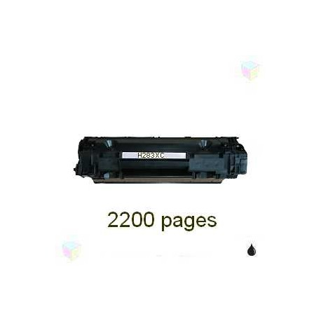 toner compatible CF283X noir pour HP Laserjet Pro Mfp M125a