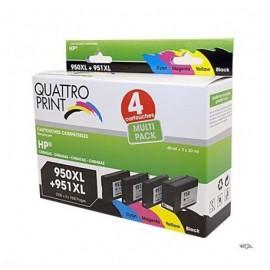 Pack Quattro Print HP950XL 951XL 4 cartouches compatibles