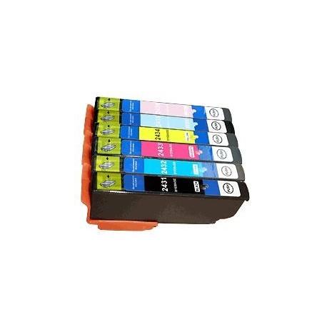 cartouche compatible C13T24384010 - 24XL pack noir+couleur pour Epson Expression Photo Xp55