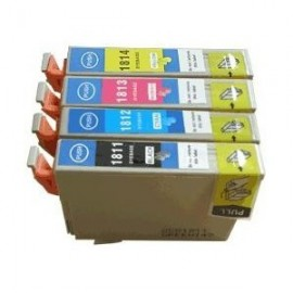Pack 4 cartouches pour Epson équivalent C13T18164010 - 18XL