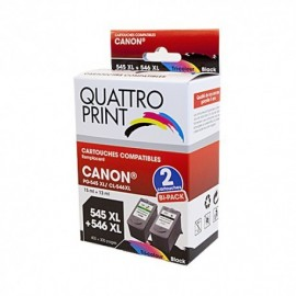 Pack PGI545XL CL546XL Canon - 2 cartouches compatibles