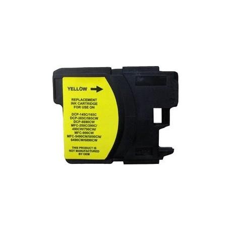 cartouche yellow pour imprimante Brother Dcp 145c équivalent LC1100HYY