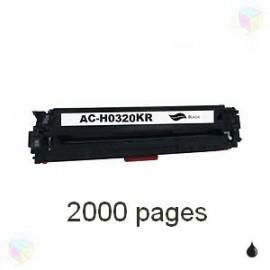 Toner noir compatible CB540A CE320A CF210A - EP716