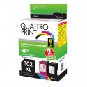 Pack Quattro Print HP302XL