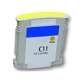 cartouche yellow pour imprimante HP Business Inkjet 1000 équivalent C4838A - N°11