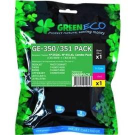 Pack 2 cartouches pour imprimante HP Deskjet D4260 équivalent CB336EE - N°350XL + CB338EE - N°351XL