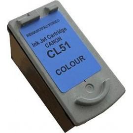 cartouche couleur pour imprimante Canon Pixma Mp 460 équivalent CL51