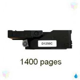 toner cyan pour imprimante Dell 1250c équivalent 593-11021